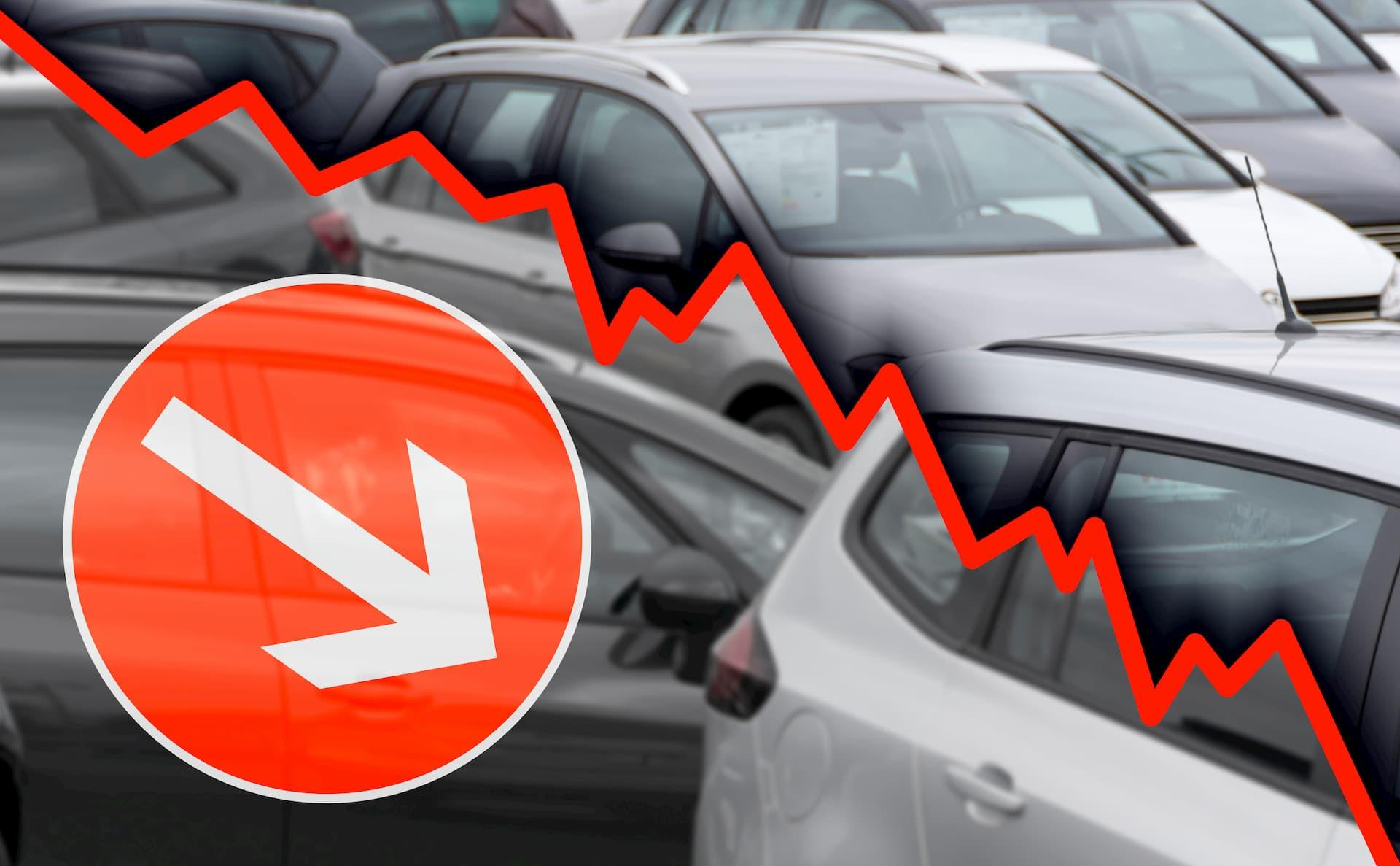 Forte baisse des ventes sur le marché de l'occasion