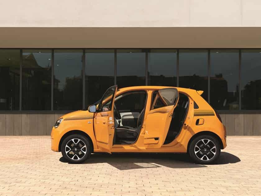 Nouvelle Twingo 2019 avec ses portes ouvertes