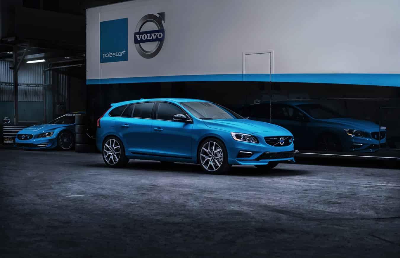 Volvo v60 polestar bleu
